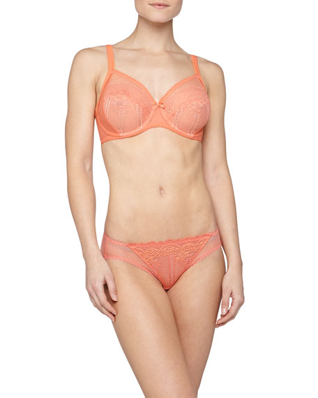 Enchantment Lace Hipster Briefs, Persimmon