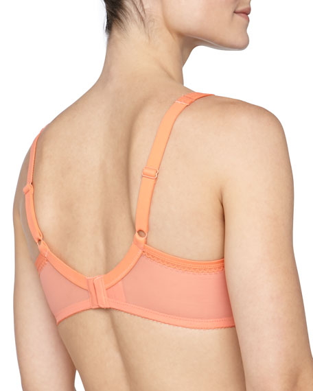 Enchantment Three-Part Full-Figure Underwire Bra, Persimmon