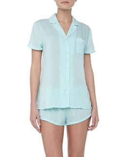 Splendid Intimates Classic Short Pajama Set, Robin's Egg Blue