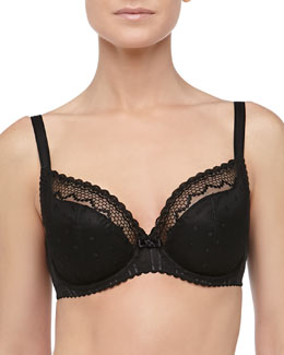 Chantelle Mutine Full-Figure Plunge Bra, Black