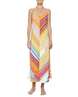 Natori Loren Striped Long Tank Gown