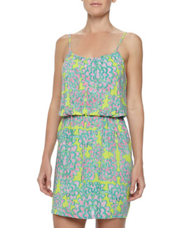 Josie Glamour Floral Skimmer Dress