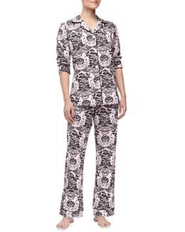 Bedhead Shinto Garden-Print Pajamas