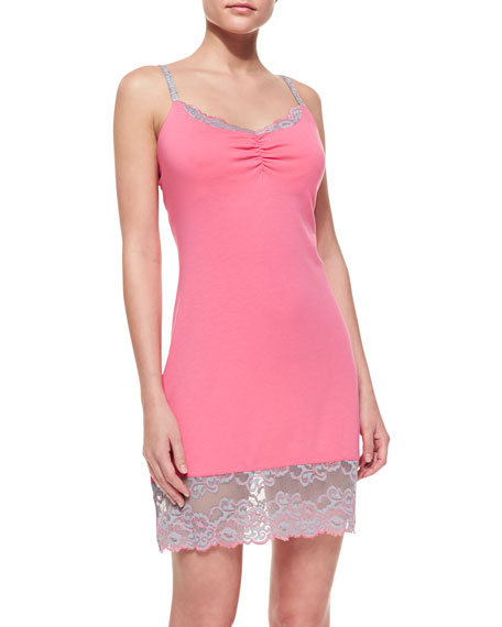 Essentials Lace-Trim Chemise, Watermelon