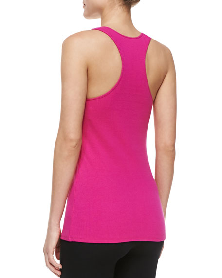 Sleeveless Scoop-Neck Top, Pink