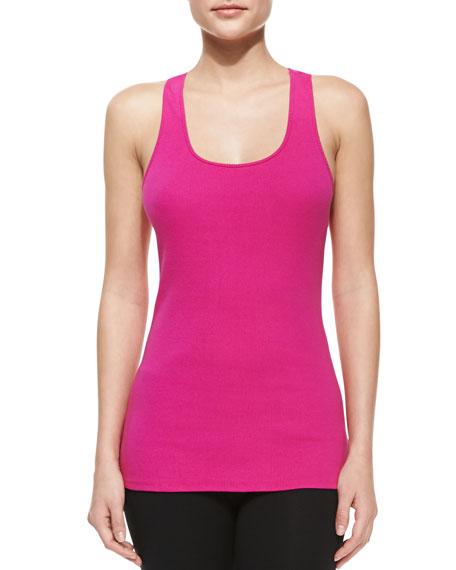 Sleeveless Scoop-Neck Top, Pink