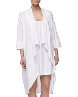 Donna Karan Pima Cotton Oversized Cozy, White