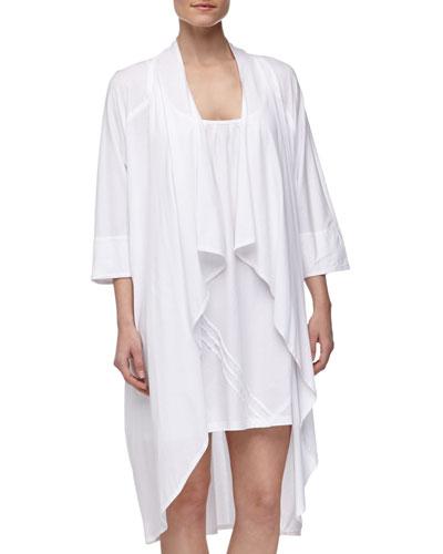 Donna Karan Pima Cotton Oversized Cozy, White