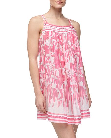 Rose Trellis Cotton Lawn Chemise, Pink