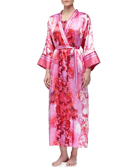 Peony Charmeuse Long Robe