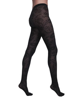 Wolford Loureen Floral Fishnet Tights