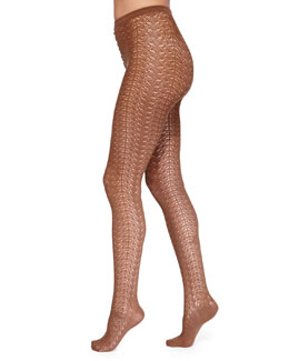 Celina Graphic Pattern Tights
