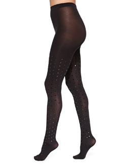 Fabienne Dot Velvet Tights