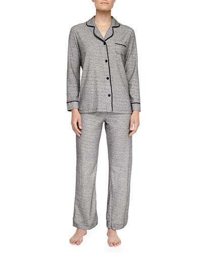 Bella Heather Pajamas, Gray/Black