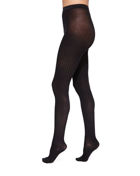 Fine Cotton Basic Ribbed Tights