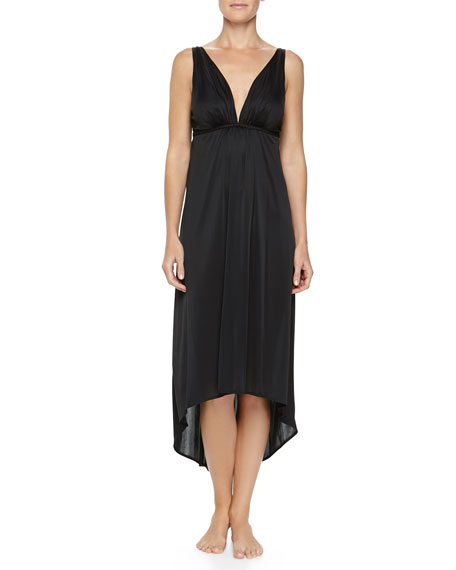 Aphrodite Slinky Jersey Gown, Black