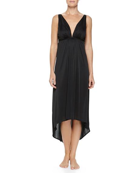 Aphrodite Slinky Jersey Gown, Black