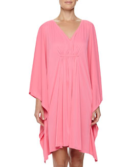 Natori Aphrodite Caftan Sleep Shirt, Tropical Pink