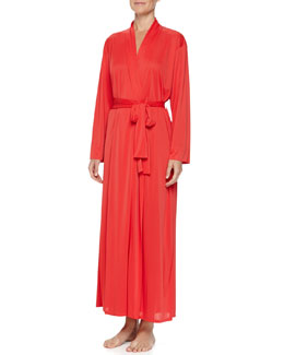 Natori Aphrodite Long Knit Robe, Sunkissed Coral