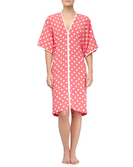 Natori Polka Dot Short Caftan, Sunset