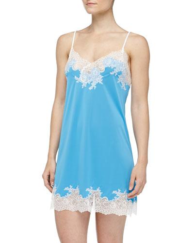 Natori Enchant Lace Trimmed Chemise, Maritime Blue