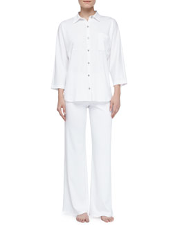 Natori Bliss Pima Tunic Pajamas, White