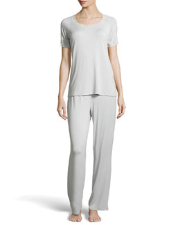 Natori Feathers Short-Sleeve Pajamas