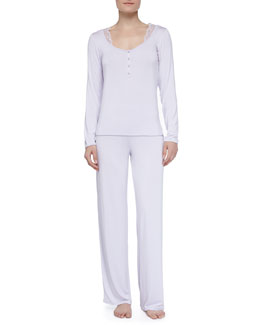 La Perla Juliana Lace Trimmed Pajamas, Lavender