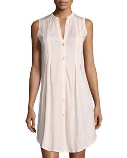 Hanro Sleeveless Shirtwaist Nightgown, Tender Rose