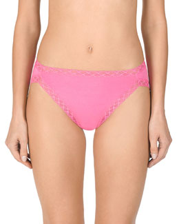 Natori Bliss French Cut Lace Trimmed Briefs, Black/Cafe/White