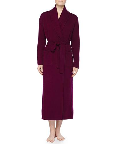 Neiman Marcus Cashmere Long Robe, Wine