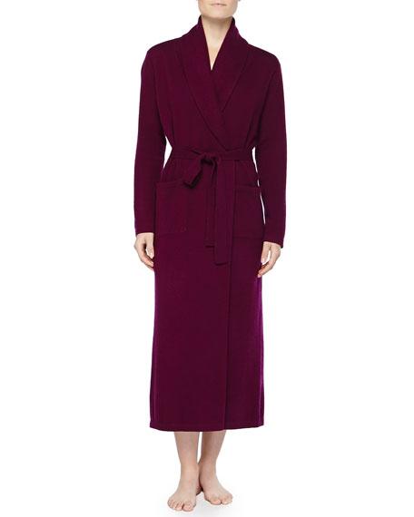 a0db78d3bc25 Neiman Marcus Cashmere Long Robe Long Robe   Polka-Dot Silk ...