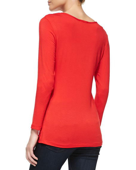 Josie Long-Sleeve Tee, Red