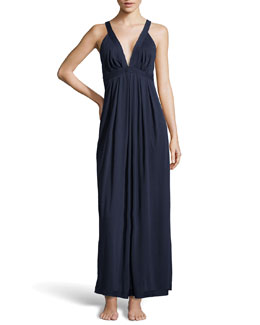 Donna Karan Pima Cotton Long Nightgown, Ink
