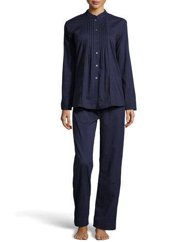 Donna Karan Cotton Batiste Pajama Set, Ink