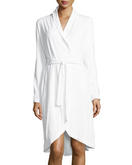 Donna Karan Casual Luxe Robe, White, Women's