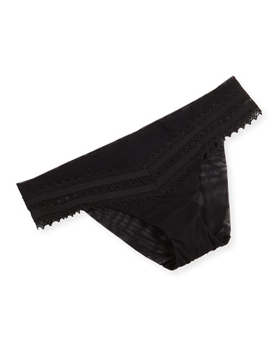 Murano Lattice Lace Brief, Black