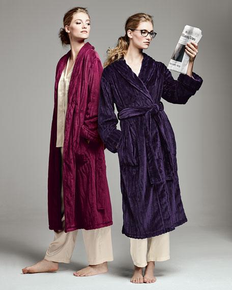Imperial Plush Pile Robe, Deep Purple