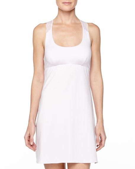 Cosabella Trenta Lace-Back Short Slip Dress, Petal