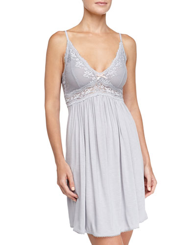 Eberjey Colette Chemise, Blue Shadow