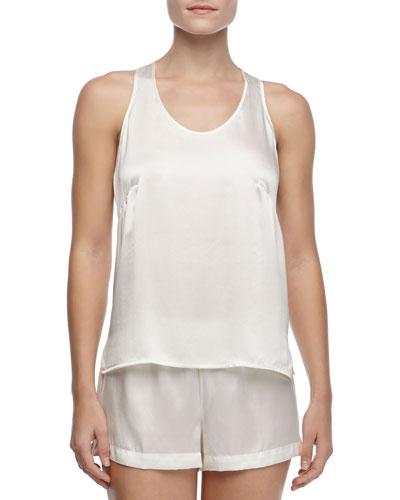 Studio Dolce Silk Shorts, Ivory