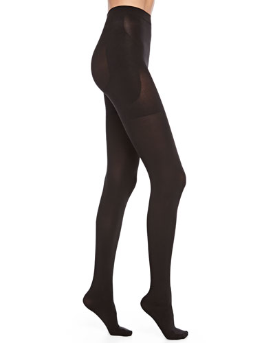 Spanx Bootyfull Opaque Tights, Black