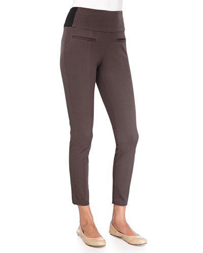 Spanx Classic Twill Crop Leggings, Brownstone