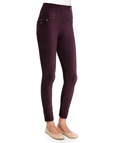 Spanx Stretch Corduroy Leggings, Eggplant