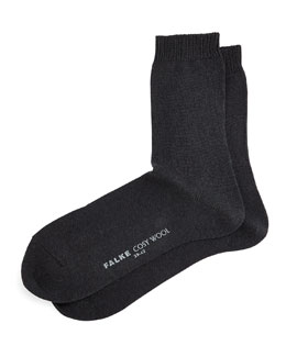 Falke Cashmere & Wool-Blend Cozy Socks, Black