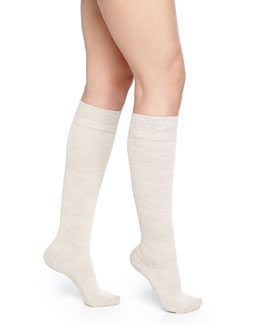 Falke Wool-Blend Knee-High Socks, Linen Melange