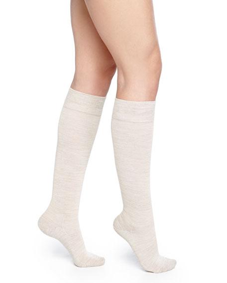 Falke Wool-Blend Knee-High Socks, Linen Melange