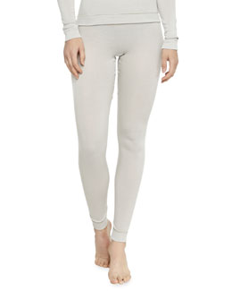 Cashmere-Silk Leggings, Pergament