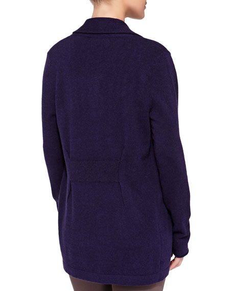 Cashmere Pinched-Back Cardigan