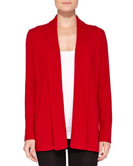 Neiman Marcus Cashmere Pinched-Back Cardigan